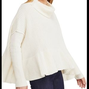 NWT Free People Layer Cake Sweater in Coconut